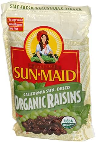 Dried Fruit & Raisins: Sun-Maid Organic Raisins