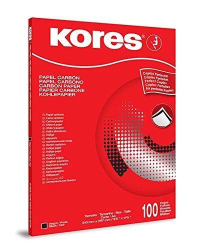 Kores Carbon Paper 1200, DIN A4, 100Sheets, Black