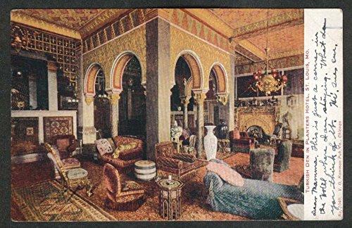 Turkish Den in Planters Hotel St Louis MO postcard 1907
