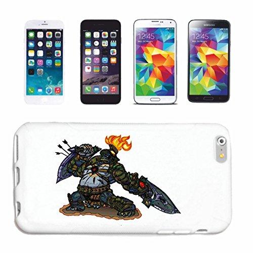 """cas de téléphone iPhone 7+ Plus """"MONSTER GORILLA DANS LA LUTTE CONTRE DRAGON DRAGON SHIELD SWORD invulnérable MYTHE GIGANT"""" Hard Case Cover Téléphone Covers Smart Cover pour Apple iPhone en blanc"""