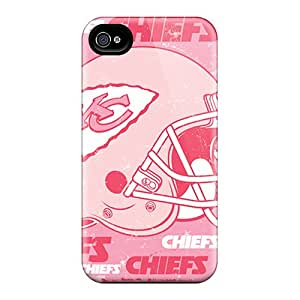 Premium Iphone 4/4s Case - Protective Skin - High Quality For Kansas City Chiefs