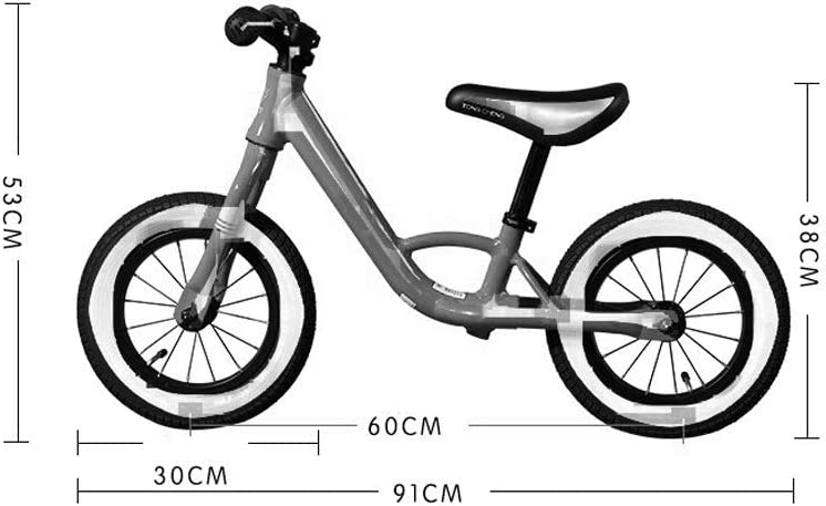 Bicicleta de Equilibrio Bicicleta Liviana Balance Sin Pedales, Bicicleta De Entrenamiento Walking Balance con Manillar Y Asiento Ajustables, para Edades De 2 A 6 Años: Amazon.es: Hogar