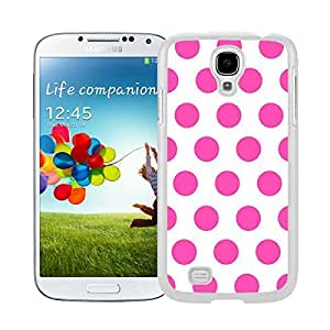 Amazing Samsung Galaxy S4 Case Polka Dot White and Pink Speck Soft Rubber Silicone White Phone Cover