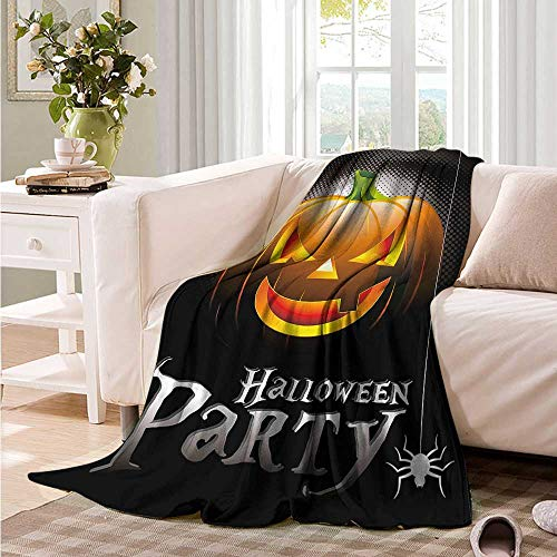 Oncegod Couch Blanket Halloween Party Theme Scary Pumpkin Sofa Warm Bed 60
