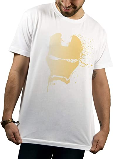 SUPERMOLON Camiseta Blanca Unisex Ironman L Básica Blanca ...