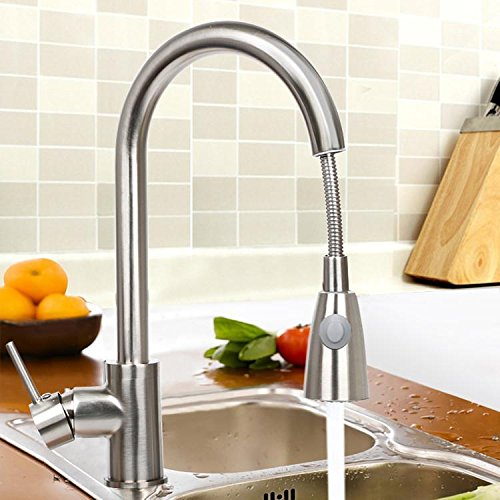 Yaheetech Pull Out Kitchen Sink Faucet Single Handle