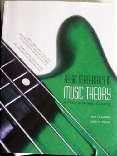 Basic Materials in Music Theory, Paul O. Harder; Greg A. Steinke