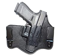 DTOM Ultimate Tuck IWB (Inside The Waistband) Hybrid Holster - RH, Black, fits Glock 17, 19, 26, 22, 23, 27