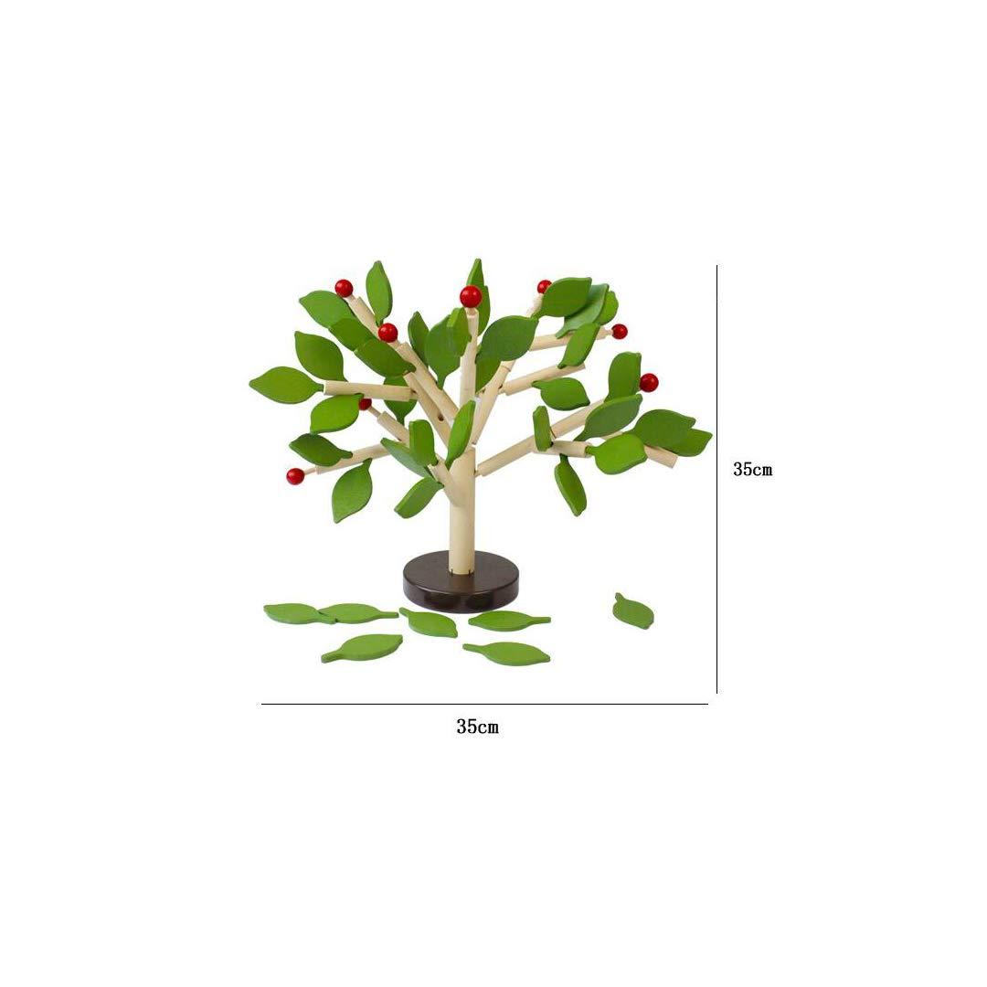 KTYXGKL Giocattoli Educativi Tridimensionali Fatti A Mano di Legno Dell'albero della Foglia di Puzzle Bambini Educativi di DIY, 35x35cm Giocattoli educativi per Bambini (colore   verde)