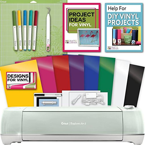 Cricut Explore Air 2 Machine Bundle - Pens, Tool, Vinyl Pack, Designs & Inspiration by Cricut