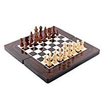 3 in 1 Travel Wooden Chess Set ,Checker and Backgammon Set With Folding Chess board for Adult and Child