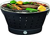 UNICOOK Portable Smokeless Charcoal Grill with Carry Bag, Outdoor Electric BBQ Grill, Tailgating Grill for Camping & Picnic, Battery Powered Fan, Easy to Carry & Assemble, Black