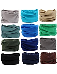 KALILY 12PCS/9PCS Headwear,Head Wrap, Neck Gaiter, Headband, Fishing Mask, Tube Mask, Face Bandana Mask and Sport Scarf 12 in 1 Sweatband for Camping, Hiking, Running