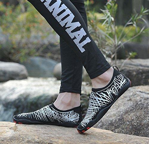 Agua Zapatos Secado Unisex Playa Deportivos Yoga para Insun Natación Zapatos Buceo Plateado de Descalzo Surf de Rápido nT4tWg