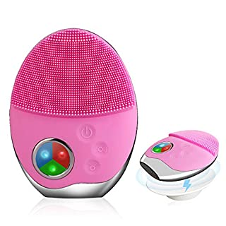 Sonic Facial Cleansing Brush for ALL Skin Types Photon Rejuvenation Exfoliation for Dirt and Oily Medical Silicone Deep Cleansing Inductive Charging Watertightness Massage Anti-Aging Prevent Acne