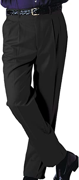 Edwards Garment Mens Casual Chino Blend Easy Fit Pant/_BLACK/_46 UL