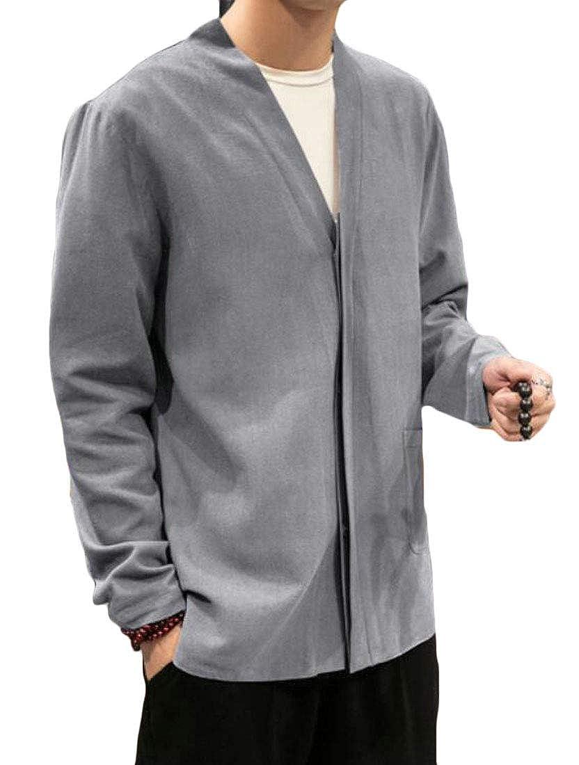 Amazon.com: WNSY - Chaqueta para hombre, de algodón, de lino ...