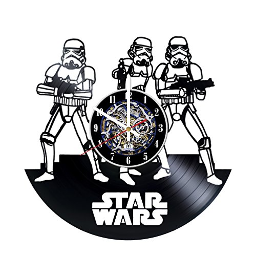 Movie Characters Design Vinyl Record Wall Clock/Gift idea for his and her/Original living room wall decor/Unique Fantasy Movie Fan Art (Star Wars The Old Republic Fan Art)