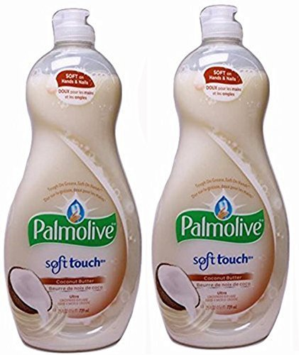 Palmolive Detergent Dishwashing (Palmolive Ultra Soft Touch Dish Liquid, Coconut Butter, 25 Ounce, (Pack of 2))