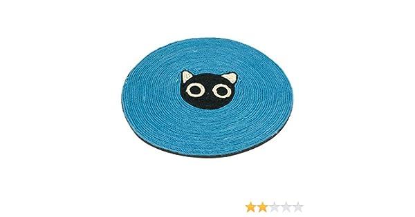 Alfombra rascador para gatos Nobleza, de yute color azul, diámetro 39 cm: Amazon.es: Hogar