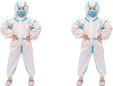 Artibetter Mono Desechable Resistente a Productos Químicos con Capucha Mono Protector Elástico Traje de Trabajo de Seguridad para Niños Talla 130 ...