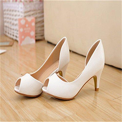 HXVU56546 nouvelle de l'été à l'aise mettre pied à talons hauts chaussures femmes sandales sweet étudiants White ipGOeaKml