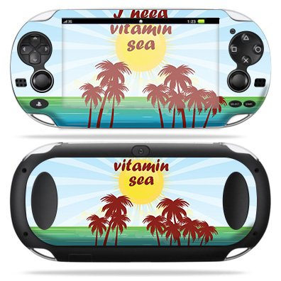 MightySkins Skin for Sony PS Vita – Vitamin Sea   Protective, Durable, and Unique Vinyl Decal wrap Cover   Easy to Apply, Remove, and Change Styles   Made in The USA