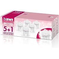 BWT Magnesium Mineralizer Cartuchos de filtrado, Blanco, Pack 5+1