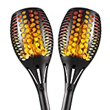 Bebrant Solar Torch Lights Upgraded-42.9 inch Flickering Flames Solar Lights Outdoor Waterproof Landscape Decoration Lighting Dusk to Dawn Auto On/Off Garden Lights for Patio Pathway Driveway 2 Pack