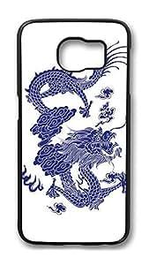 Brian114 Case, S6 Case, Samsung Galaxy S6 Case Cover, China Dragon Oriental Style 5 Retro Protective Hard PC Back Case for S6 ( Black )