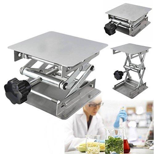 Drillpro 4x4'' Scientific Lab Jack Aluminum Lab Lifting Platform Stand Rack Scissor Lab-Lift Lifter by DRILLPRO