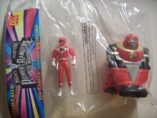 Mighty Morphin Power Rangers the Movie Red Ranger with Ape Ninja Zord (Mcdonalds Happy Meal Toy) (Power Rangers Mighty Morphin Zords)