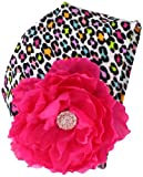 Mud Pie Baby-Girls Newborn Leopard Flower Cap
