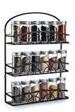 Francois et Mimi Mountable 3 Tier Iron Spice Rack and Holder Black