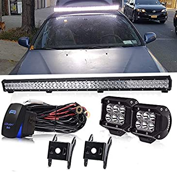 Turbo 2Pcs 6 Inch Led Light Bar 18W Led Work light Spot Beam Offroad 4WD ATV Jeep Tractor SUV UTE Boat