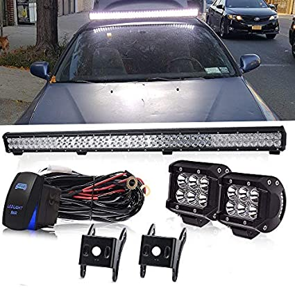 Amazon.com: 39 INCH 252W LED Light Bar + 2PCS 4 INCH 18W Cube Pods on ford fuel pump assembly, ford coil harness, ford rear bumper bracket, ford gas pedal, ford heater switch, ford temp sensor, ford vacuum harness, ford duraspark harness, ford air bag module, ford radio display, ford super duty hub conversion, ford battery cover, ford engine harness, ford key switch, ford vacuum switch, ford abs unit, ford ac clutch, ford cigarette lighter, ford parking assist sensor, ford computer harness,