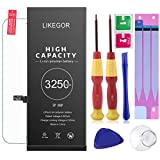 LIKEGOR Replacement Battery Compatible with iPhone 6S Plus,3250mAh li-ion Battery with Complete Repair Tool Kits,Screen Protector,Adhesive Strips and Instruction-24 Month Warranty
