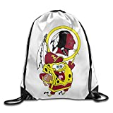 Huma Washington Sponge Bob Redskin Fashion Knapsack Backpack Bags