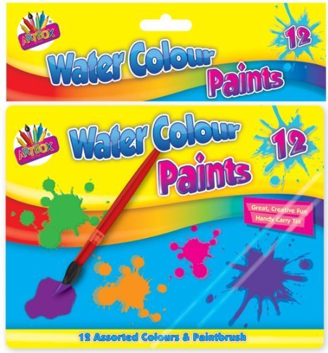 Price comparison product image Artbox Water Colour Paints in Tin Box (Pack of 12)