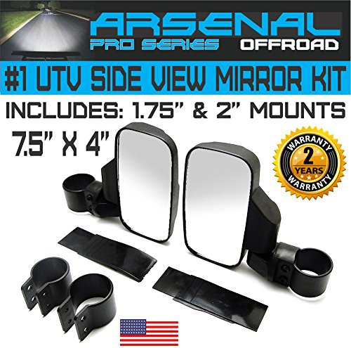 Pro Vision Offroad Rear View Side Mirror UTV KIT for 1.75