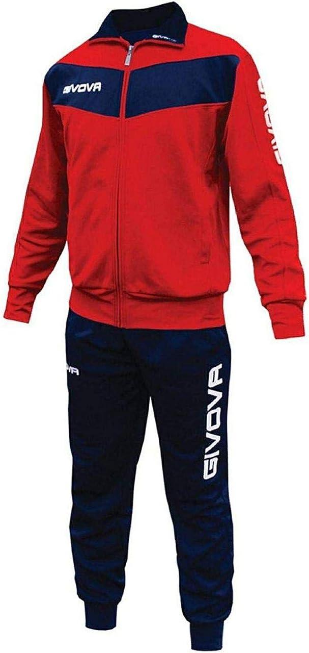 capriccio Visa Tuta da Ginnastica Givova Uomo Donna Fitness Sport Rosso Blu Nero Bianco
