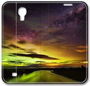 The Southern Lights In New Zealand S4 Case, Samsung Galaxy S4 I9500 Case, Leather Cover for Samsung Galaxy S4 / S 4/ S IV