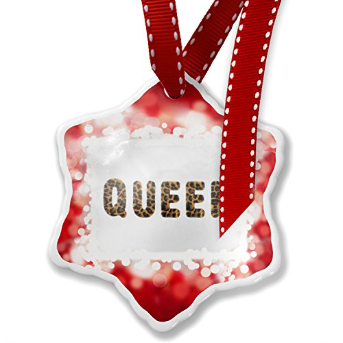 Christmas Ornament Queen Cheetah Cat Animal Print, red - Neonblond by NEONBLOND