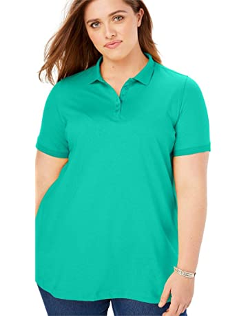 ebc6e8f5728 Woman Within Women s Plus Size Perfect Polo Tee
