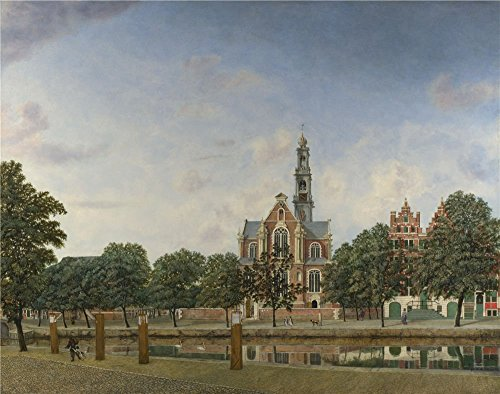 Perfect Effect Canvas ,the Vivid Art Decorative Prints On Canvas Of Oil Painting 'Jan Van Der Heyden View Of The Westerkerk Amsterdam ', 18 X 23 Inch / 46 X 58 Cm Is Best For Gift For Relatives And Home Gallery Art And Gifts