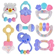 HAHA Baby Girls Boys Toys Toddler Sensory Rattles Teethers Gift Toy Set for 0 3 6 to 12 Months Infant Newborn Kids