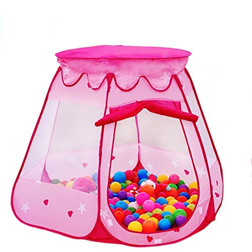 Lepapillon Pink Princess Tent Indoor and Outdoor 1-8 Years Old Children Game Play Toys Tent Balls Not Included (Pink)