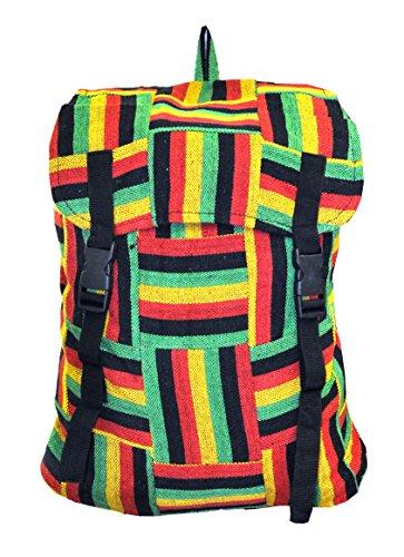Mandala Tibetan Shop Bohemian Hemp Rasta Backpack, Cool Backpack, Cute (Tibetan Bag)