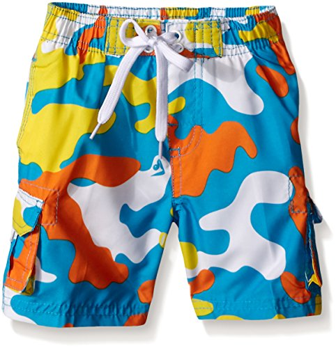 Kanu Surf Little Boys' Toddler Camo Swim Trunk, Aqua, (Camouflage Trunk)