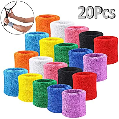 Julymall Unisex Sports Sweatbands Wristband Durable Wristband Avoid Wrist Injury and Dislocation Sweatbands for Basketball Badminton Fitness All Sports random color Estimated Price £8.10 -